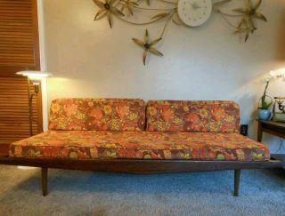 Vtg Teak Mid Century Modern Daybed Sofa Adrian Pearsall Danish Peter Hvidt Retro photo