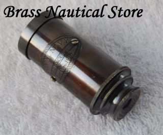Antique Style Brass Telescope Nautical Pocket Spyglass Maritime Decorative photo