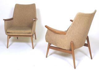1 Of 2 Stunning Retro Vintage 1960 ' Mid Century Modern Easy Armchairs photo