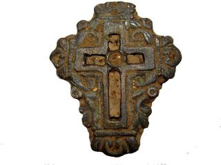 Rare Large Antique Reliquary Cross,  As Found In The Soil, photo