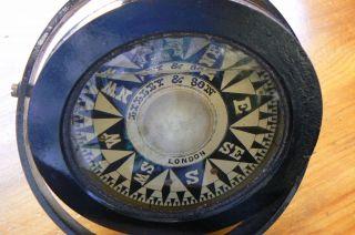 Lilley & Son England Antique Ship Or Boat Gimbal Compass Pre 1913 photo