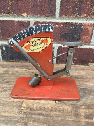 Egg Scale Poultry Antique Style Cyclone Hen Chicken Sizer Primitive photo