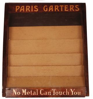 Vintage Paris Garters Mens Socks Store Display Case Pop Advertising photo