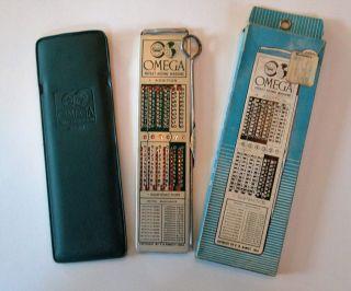 Vintage Omega Pocket Adding Machine Calculator 6 Digit Wescosa 1964 14126 photo