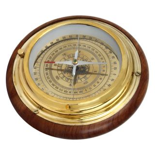 Artshai Sheesham Brass Big Size Magnetic Compass photo