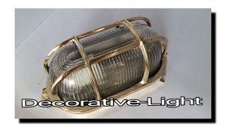 Marine Nautical Light Brass Ship Wall & Celling Oval Passage Light 1 Pc photo