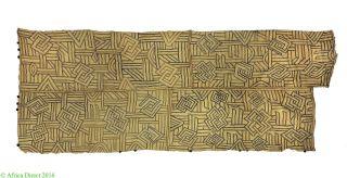 Kuba Raffia Textile Congo African Art 4 Feet Was $250 photo