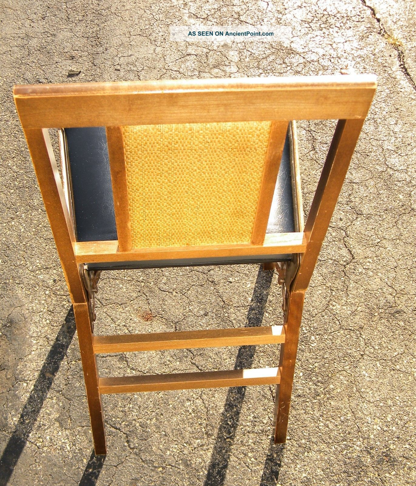 Vintage Mid Century Leg O Matic Legomatic Wood Folding Chair