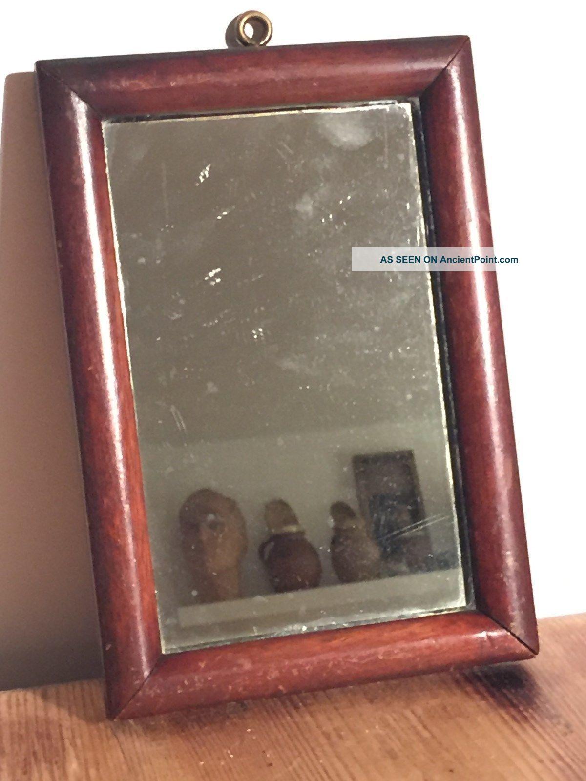 Antique 1933 Mahogany Framed Mirror / Gentlemen Mirror / Vanity Mirror 20th Century photo