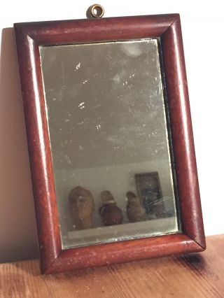 Antique 1933 Mahogany Framed Mirror / Gentlemen Mirror / Vanity Mirror photo