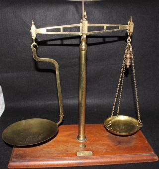 Antique Herbert & Sons Ltd.  Weighing Machine Makers England Copper Scale photo