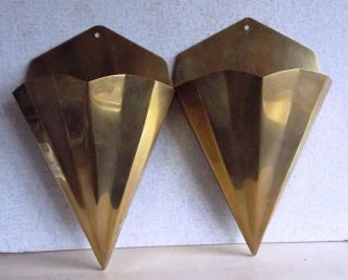 Wall Hung Vintage Art Deco Style Solid Brass Wall Sconces photo