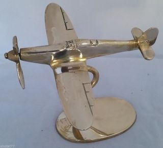 Vintage Solid Brass Wwii Fighter Plane photo
