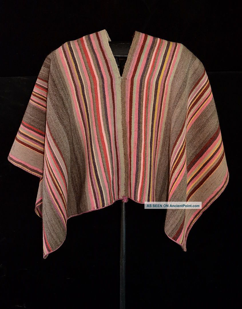 Fairly Rare Attractive Ceremonial Poncho Aymara Andes Indian Cond.  Tm8929 Native American photo