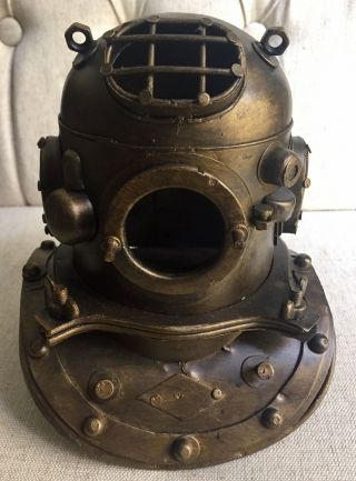 Nautical Decor Aged Bronze Scuba Diving,  Divers Helmet photo