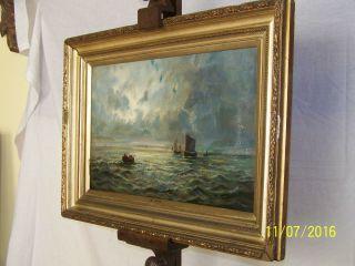 Abraham Hulk L Listed Artist C19th C Oil On Canvas Seascape Maritime photo