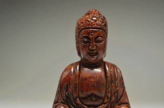 Collectible Chinese Old Jade Hand Carved Buddha Statue Fs51 photo