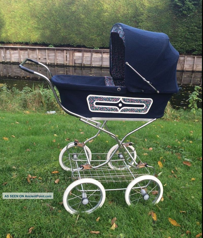 Vintage Zekiwi Baby Doll Pram Carriage Buggy Stoller Blue Baby Carriages & Buggies photo