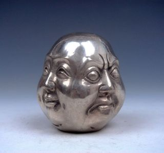 Tibetan Silver Copper Hand - Carved 4 Erawan Statue photo