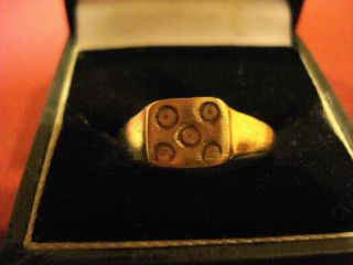 Ancient Roman ' Evil Eye ' Ring - - Detector Find photo