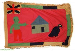 Fante Asafo Flag Appliqued Frankaa Ghana African Art Was $425 photo