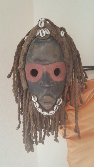 African Tribal - Striking Dan Deangle Dancer Mask,  Cote D ' Ivoire photo