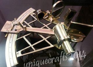 Vintage Solid Brass Navigation Sextant 10