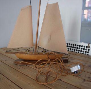Art Deco Style Vintage Ship Yacht Lamp photo