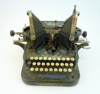 Oliver Standard Visible Writer Typewriter No.  5 Vintage Antique 1894 - 1909 photo