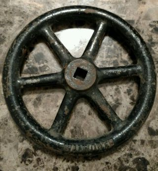 Vintage Large Cast Iron Industrial Valve Handle Steampunk Art (ac) photo