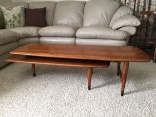 Black Friday Lane Acclaim Coffee Table Switchblade Mid Century Modern photo