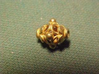 A Stunning Ornately Decorated Sassanian Gold Bead Circa 224 - 642 Ad photo