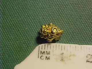 An Ornately Decorated Sassanian Gold Bead Circa 224 - 642 Ad photo