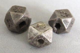 Rare Old Morocco Berber Beads Cornerless Cubes,  Large Antique photo