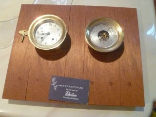 Vintage Chelsea Bell Clock & Barometer N.  Y.  Nautical Instrument & Service Corp photo