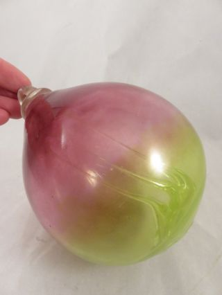 Antique Or Vintage Blown Glass Witch Ball Gazing Float Wicca Pagan Ornament Art photo