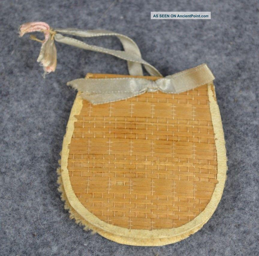 Sewing Needle Pin Case Holder Woven Poplar Shaker Community Canterbury Antique Needles & Cases photo