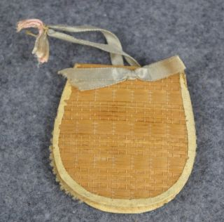 Sewing Needle Pin Case Holder Woven Poplar Shaker Community Canterbury Antique photo