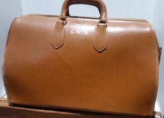 Vintage Zippogrip Medical Leather Bag Large photo