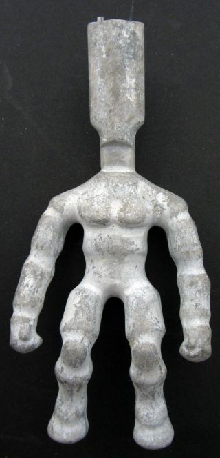 Vintage Aluminum Industrial Toy Action Figure Mold - He - Man Stretch Armstrong photo
