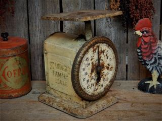 Antique Primitive Farm House Rustic Kitchen Scale photo