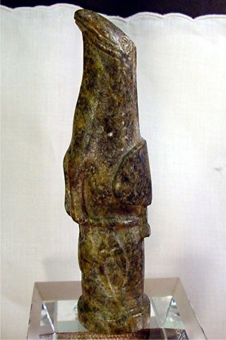 Antique African Great Zimbabwe Eagle Bird & Prey Soapstone Sculpture Monolith photo