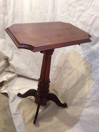 Aesthetic Antique Pedastal Solid Cherry1900 ' S Ship4 $79 By Greyhound,  Make Offer photo