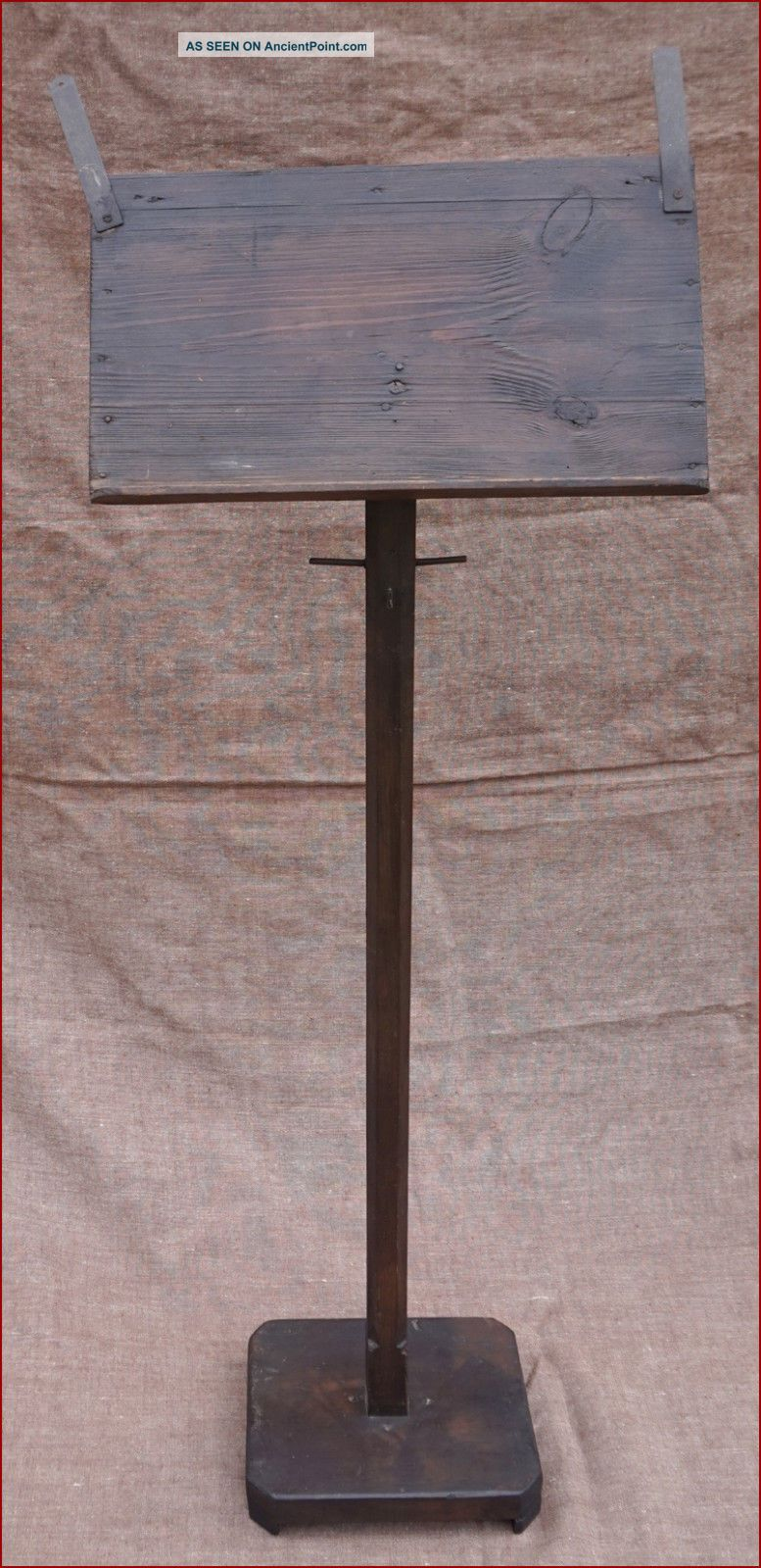 French Tall Sheet Musical Or Reading Display Stand Hand Crafted Solid Wood 1900 1900-1950 photo