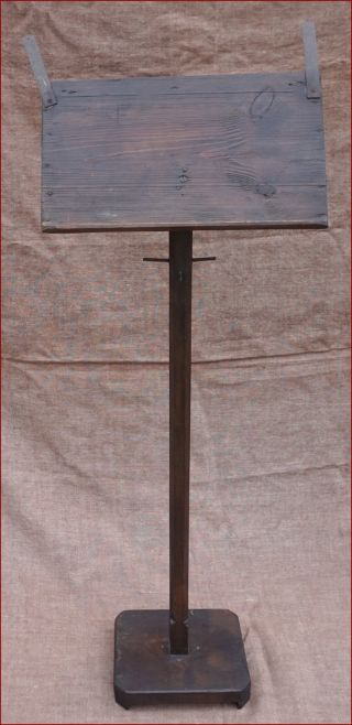 French Tall Sheet Musical Or Reading Display Stand Hand Crafted Solid Wood 1900 photo