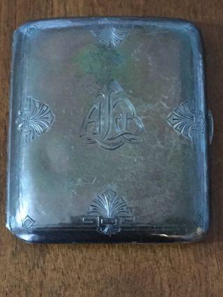 Antique Sterling Silver Cigarette Case photo