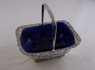 Victorian Silver Swing Handle Sugar Basket - Sheff 1898 - Atkin Brothers photo