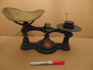 Vintage Cast Iron Candy Scale With 1940s Philadelphia Seal photo