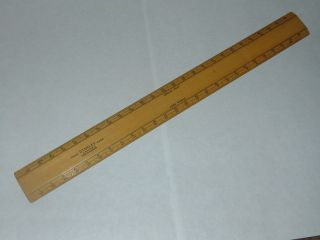Vintage Boxwood Stanley Of London Scale Ruler Rule In photo