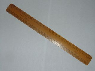 Vintage Boxwood J Rabone & Sons No 1580 Scale Ruler Rule In photo